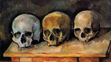Paul Cezanne (Still Life, Three skulls) Art Poster Print Masterprint