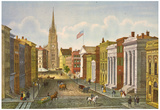 Wall Street New York City 1847 Historical Art Print Poster Photo