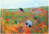 Mary Cassatt Poppy In The Field Art Print Poster Posters