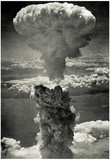 Atomic Bomb Mushroom Cloud Archival Photo Poster Print Stampe
