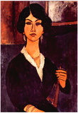 Amedeo Modigliani Portrait of a Sitting Woman Art Print Poster Prints