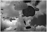 Military Parachute Archival Photo Poster Print Posters