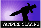 Vampire Slaying Purple Poster Print Posters