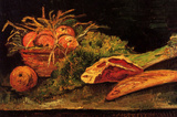 Vincent Van Gogh Still Life with Apples Meat and a Roll Art Print Poster Masterprint