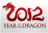 2012 Year of the Dragon Silver Poster Posters