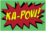 Ka-Pow! Comic Pop-Art Art Print Poster Posters