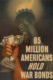 85 Million Americans Hold War Bonds WWII War Propaganda Art Print Poster Masterprint