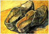 Vincent Van Gogh A Pair of Leather Clogs Art Print Poster Posters