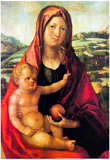 Albrecht Durer Mary with Child against a Landscape Art Print Poster Posters