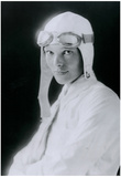 Amelia Earhart in White Archival Photo Poster Print Photo