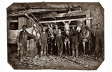 Mine Drivers and Trapper 1908 Archival Photo Poster Print Masterprint