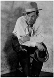 Will Rogers Sitting on Stool Archival Photo Movie Poster Print Poster