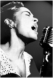 Billie Holiday Black and White Music Poster Print Láminas