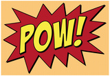 Pow Comic Pop-Art Art Print Poster Poster