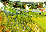 Vincent Van Gogh Vineyards with a View of Auvers Art Print Poster Print