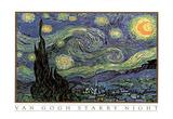 Vincent Van Gogh Starry Night Art Print POSTER quality Poster