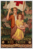 American Junior Red Cross WWII War Propaganda Art Print Poster Posters