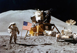 Moon Landing Salute Archival Photo Poster Print Masterprint