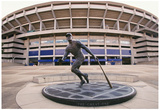 Roberto Clemente Statue Three Rivers Stadium Pittsburgh Archival Photo Sports Poster Posters