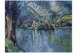 Paul Cezanne (Lake Annecy) Art Poster Print Photo