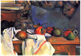 Paul Cezanne (Still lifes, ginger pot) Art Poster Print Poster