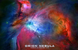 Orion Nebula Text Space Photo Poster Print Masterprint