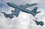 KC-135 Statotanker (Refueling F-16 Fighting Falcons) Art Poster Print Masterprint