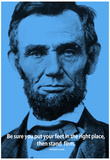 Abraham Lincoln Stand Firm iNspire Quote Poster Posters