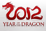 2012 Year of the Dragon Silver Poster Masterprint
