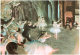 Rehearsal on Stage Edgar Degas Art Print Poster Posters