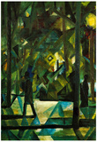 August Macke Evening Art Print Poster Prints