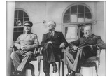 Leaders of World War 2 (Winston Churchill, Franklin Delano Roosevelt, Joseph Stalin) Art Poster Pri Prints