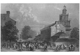 Independence Hall (Philadelphia, B&W) Art Poster Print Print