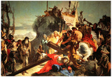 Tiepolo Jesus Carriying the Cross Art Print Poster Plakater