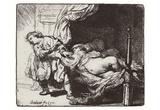 Rembrandt Harmensz. van Rijn (Joseph and Potiphar's wife) Art Poster Print Posters