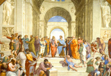 Raphael (The School of Athens) Restored Art Poster Print Masterprint