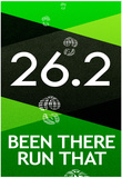 26.2 Been There Run That Marathon Sports Poster Posters