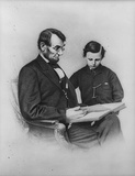 Abraham Lincoln (Reading with Son Tad) Art Poster Print Masterprint