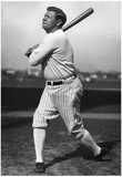 Babe Ruth Swing Archival Sports Photo Poster Posters
