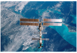 International Space Station (Over Miami) Art Poster Print Prints