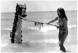 Sea Monster 1970 Archival Photo Poster Print