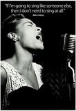 Billie Holiday Quote Music Poster Print Affischer