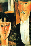 Amadeo Modigliani Bride and Groom Art Print Poster Posters