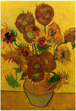 Vincent Van Gogh Still Life Vase with Fifteen Sunflowers Art Print Poster Prints