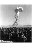 Atomic Bomb Test (Soldiers) Art Poster Print Prints