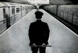 Policeman on New York City Subway Platform Archival Photo Poster Print Masterprint