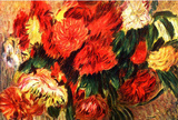 Pierre-Auguste Renoir Still Life with Chrysanthemums Art Print Poster Masterprint