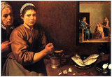Velasquez Christ in the House of Mary and Martha Art Print Poster Prints