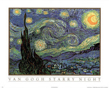Vincent Van Gogh Starry Night Art Print POSTER quality Masterprint
