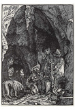 Albrecht Altdorfer (St. Jerome in the rock grotto) Art Poster Print Prints